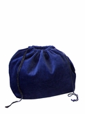 Small Blue Velvet Cremation Urn Bag