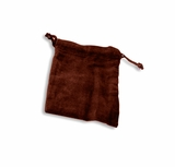 Small Burgundy Velvet Cremains Bag For Ashes