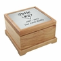 Small Cat Paw Prints in Heart Laser Engraved Nameplate Red Alder Wood Pet Cremation Urn