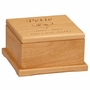 Small Cat Paw Prints in Heart Laser Engraved Red Alder Wood Pet Cremation Urn