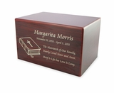 Small Cherry Finish MDF Wood Cremation Urn