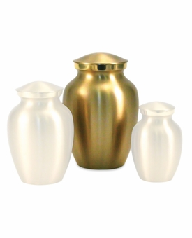 Small Classic Brass Cremation Urn - Engravable