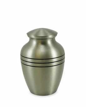 Small Classic Pewter Cremation Urn