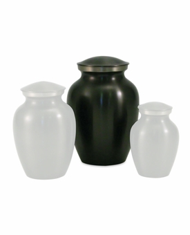 Small Classic Slate Brass Cremation Urn - Engravable