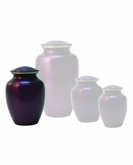 Small Classic Violet Brass Cremation Urn - Engravable