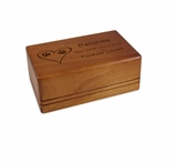 Small Economy Mahogany Wood Pet Cremation Urn