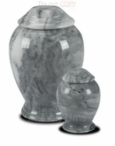 Small Grey Modern Marble Cremation Urn