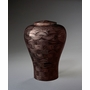 Small Lily Black Wood Cremation Urn