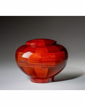 Small Mercy Padauk Wood Cremation Urn