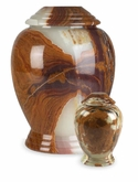Small Multi Onyx Modern Marble Cremation Urn
