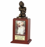 Small My Best Dog Ever Photo Walnut Wood Pet Cremation Urn