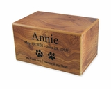 Small Natural Finish MDF Wood Pet Cremation Urn