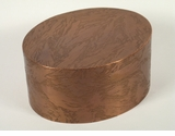 Small Oval Custom Handcrafted Copper Pet Cremation Urn