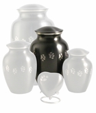 Small Paw Prints Classic Slate Pet Cremation Urn - Engravable
