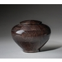 Small Peony Black Wood Cremation Urn