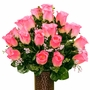 Small Pink Roses Silk Flowers for Cemeteries