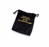 Small Rainbow Bridge Black Velvet Pet Cremains Bag For Ashes