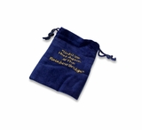 Small Rainbow Bridge Blue Velvet Pet Cremains Bag For Ashes
