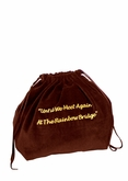 Small Rainbow Bridge Burgundy Velvet Pet Cremation Urn Bag