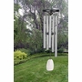 Small Reflections Silver Finish Memorial Wind Chime Cremation Urn