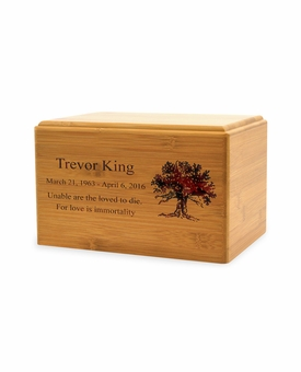 Small Renewable Bamboo Cremation Urn