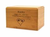 Small Renewable Bamboo Pet Cremation Urn