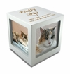 Small Rotating Photo Cube Pet Cremation Urn - 3 Color Choices