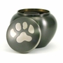 Small Slate  /  Pewter Odyssey Paw Print Pet Cremation Urn