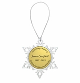 Small Snowflake Memorial Ornament