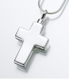 Small Sterling Silver Cross Cremation Jewelry