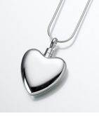 Small Sterling Silver Heart Cremation Jewelry