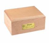 Small Traditional Maple Wood Pet Cremation Urn