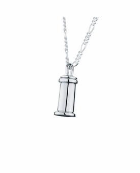 Small Traditional Sterling Silver Cremation Jewelry Pendant Necklace