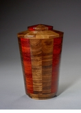 Small Trinity Black Walnut and Padauk Wood Cremation Urn