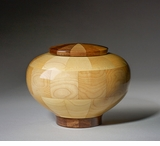 Small Truth Maple and Black Walnut Wood Cremation Urn