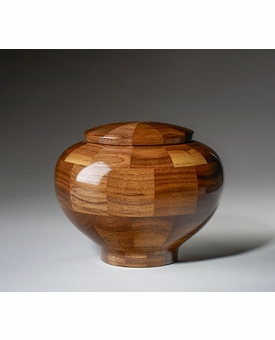 Small Wisdom Black Walnut Wood Cremation Urn