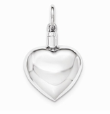 Smooth Heart Sterling Silver Cremation Jewelry Pendant