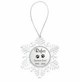 Snowflake Memorial Ornament