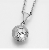 Soccer Ball Stainless Steel Cremation Jewelry Pendant