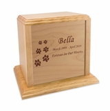Solid Oak Wood Large Pet Cremation Urn