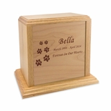 Solid Oak Wood Medium Pet Cremation Urn