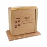 Solid Oak Wood Small Pet Cremation Urn