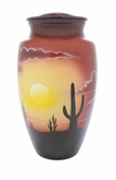 Sonoran Desert Skies Hand Painted Cremation Urn