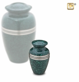 Speckled Emerald Keepsake Cremation Urn