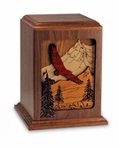 Spirit Soaring Dimensional Wood Cremation Urn - Engravable