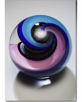 Spring Celestial Marble Cremains Encased in Glass Keepsake Cremation Urn