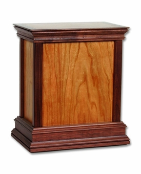Standard Cherry Hardwood Handcrafted Cremation Urn by WoodMiller