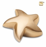 Star Brushed Gold Keepsake Cremation Urn