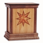 Star Cherry Hardwood Handcrafted Cremation Urn by WoodMiller