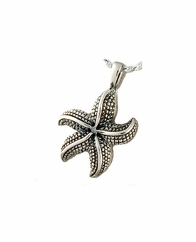 Star Fish Cremation Jewelry in Sterling Silver-S